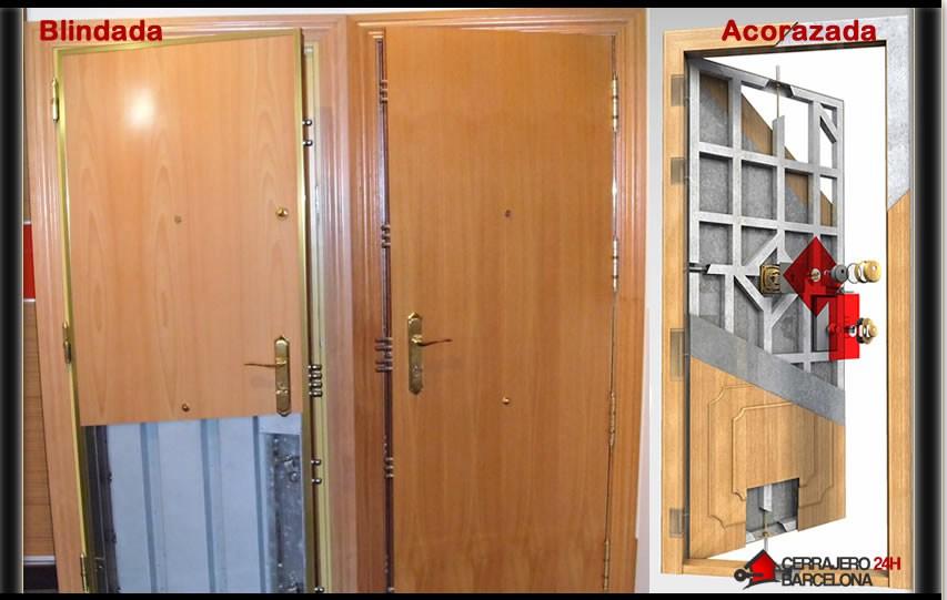 Puertas de seguridad 628 163 164 cerrajeros barnaclau 24h for Puertas seguridad