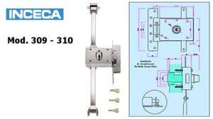 modelo 309-310 cerradura inceca